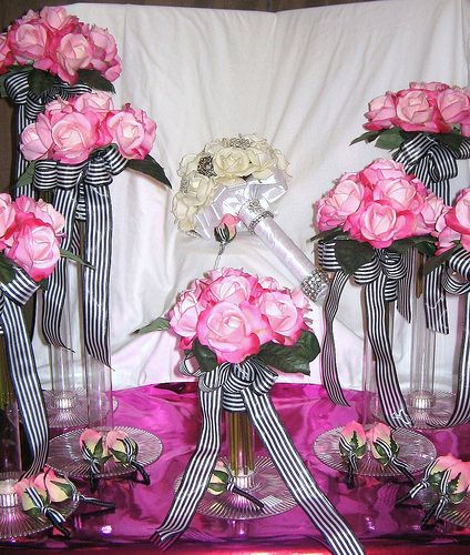 Wedding in Black and Pink | by pamelabrown680