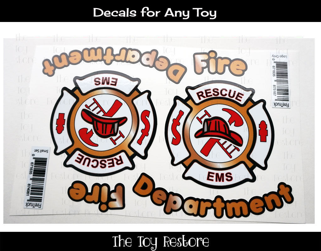 Toy Restore Decal Stickers Fire Truck Engine For Car Firetruck Custom Cozy Coupe Truck Engine Cozy Coupe Fire Trucks [ 800 x 1022 Pixel ]