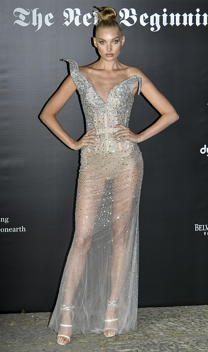 e5d29696bd80 Celebrities Took Naked Dresses to a New Level During Milan Fashion Week