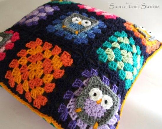 Owl Granny Square Afghan Pattern Free Granny Squares Crochet
