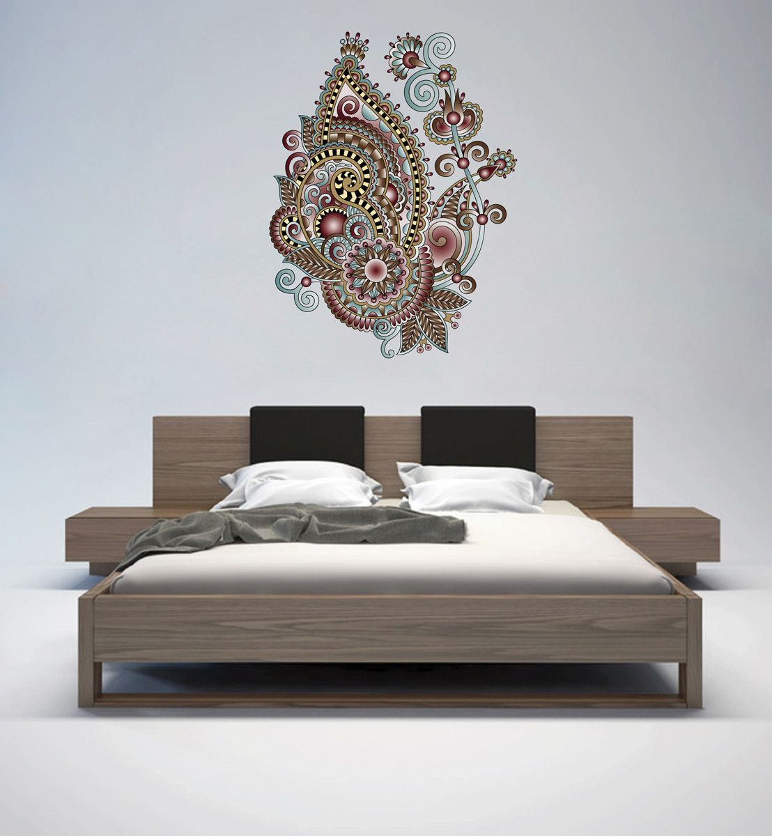 cik128 Full Color Wall decal flower decoration Indian living room bedroom