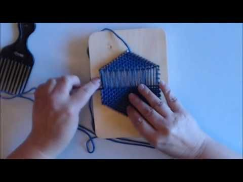How to Weave a Rug on the CraftSanity Kindred Rug Loom - YouTube