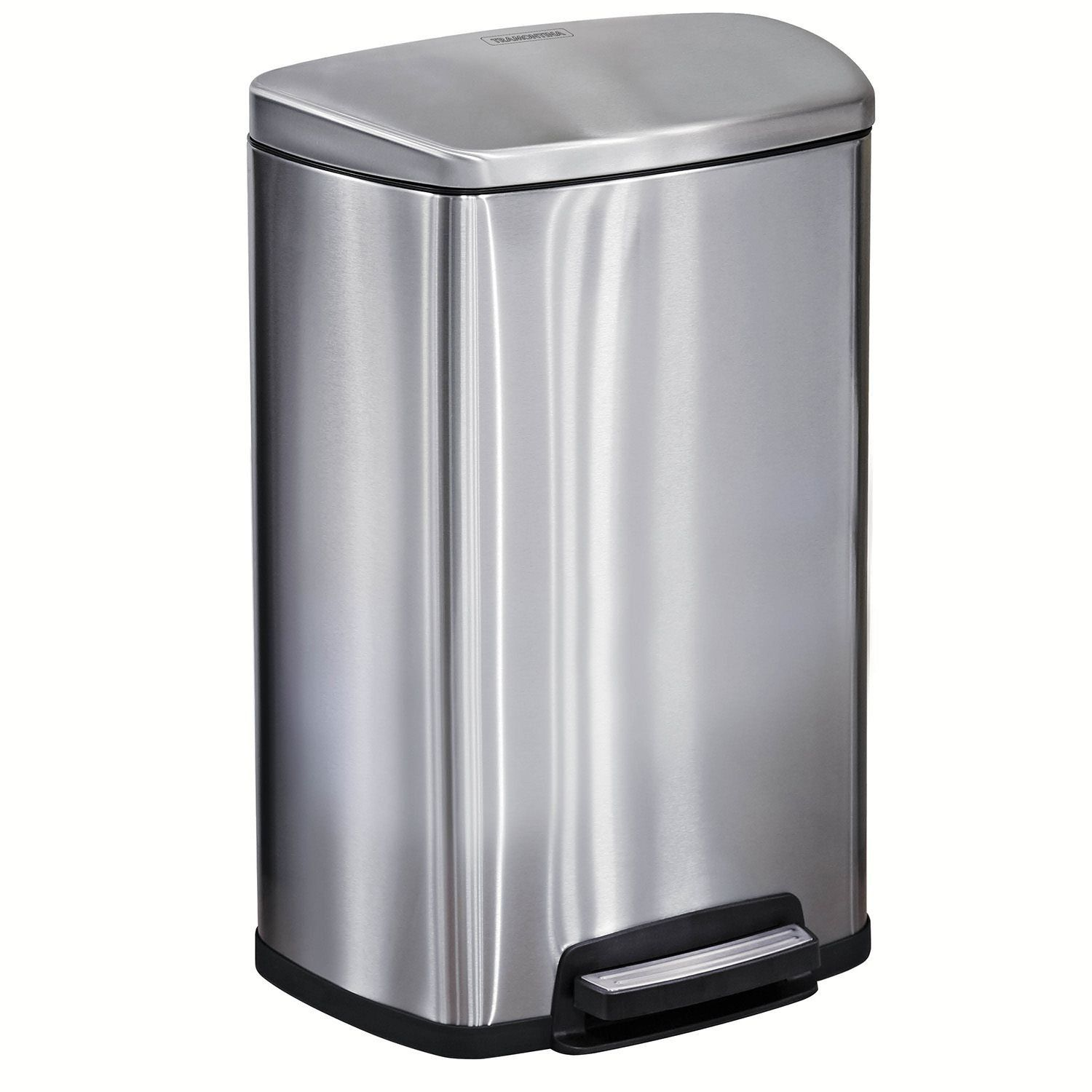 Tramontina Step on Waste Can, Stainless Steel Trash Can Step ...