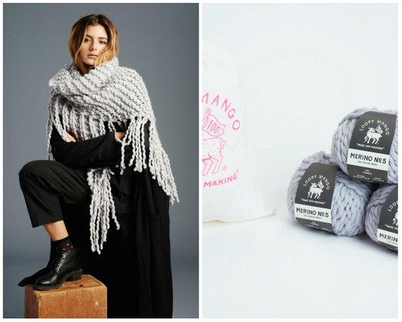 70bd8e3154fa3 Loopy Mango DIY Kit - Her Fringe Shawl - Chunky Merino Wool in 2019 ...