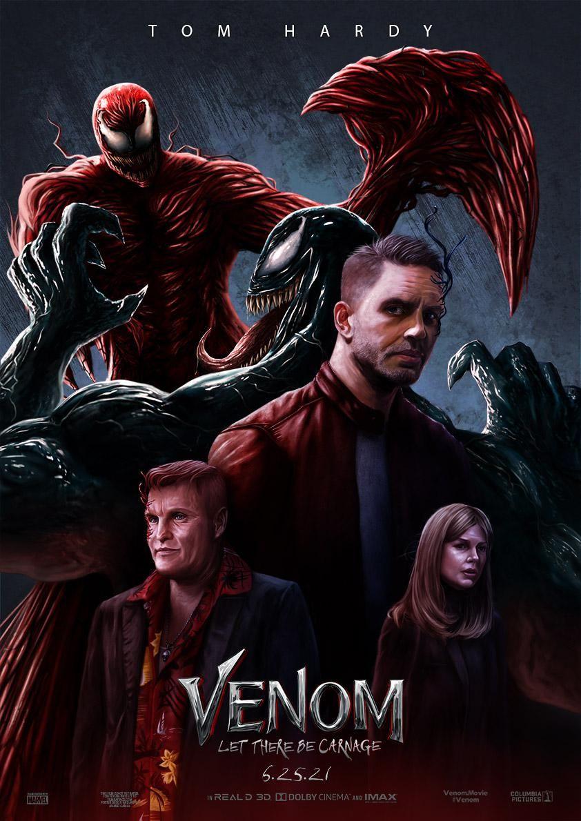 A Fan Digital Painting Artwork And Poster Design I Did For Venom Let There Be Carnage Movie Marvel Universe Venom Venom Quadrinhos