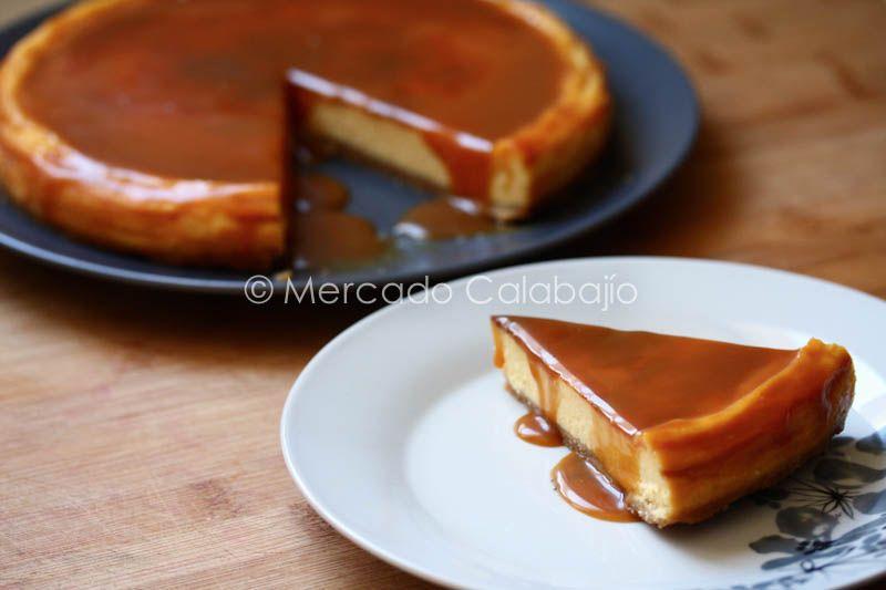 Tarta De Queso Y Caramelo Salado Salted Caramel Cheesecake Mercado Calabajío Comida Postres Caramelo Salado Tartas