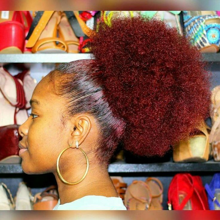 Image Result For Dyed Ends Natural Hair On High Puff With Images