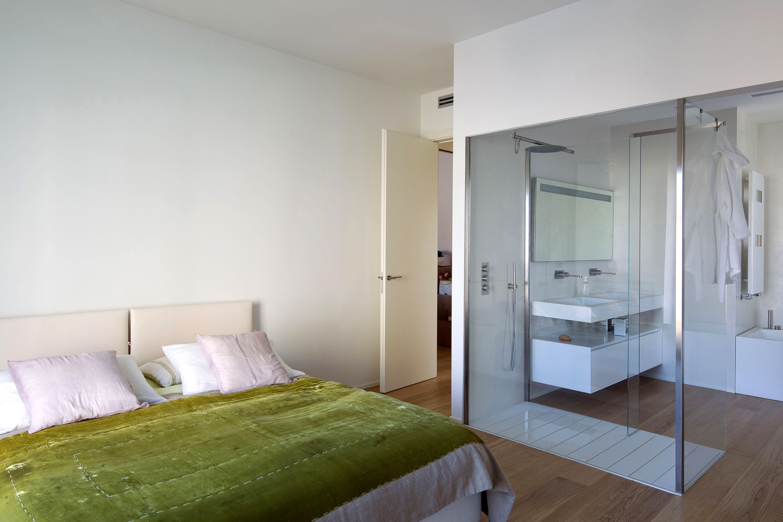 Camera da letto con bagno a vista  architecture in 2019  Camera da letto con bagno Bagno in