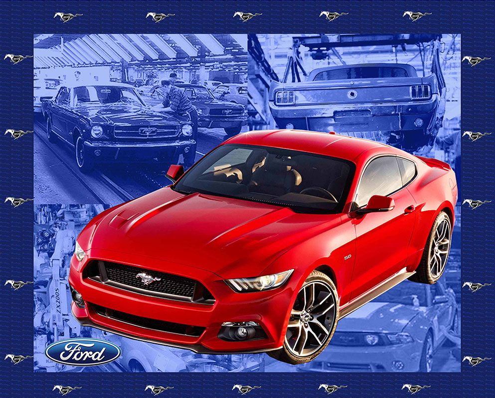Car fabric print concepts vintage ford mustang panel 5573