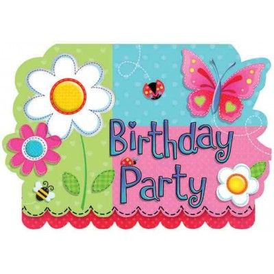 1st Birthday Girl Party Supplies 1st Birthday Party Invitations Pack of 8