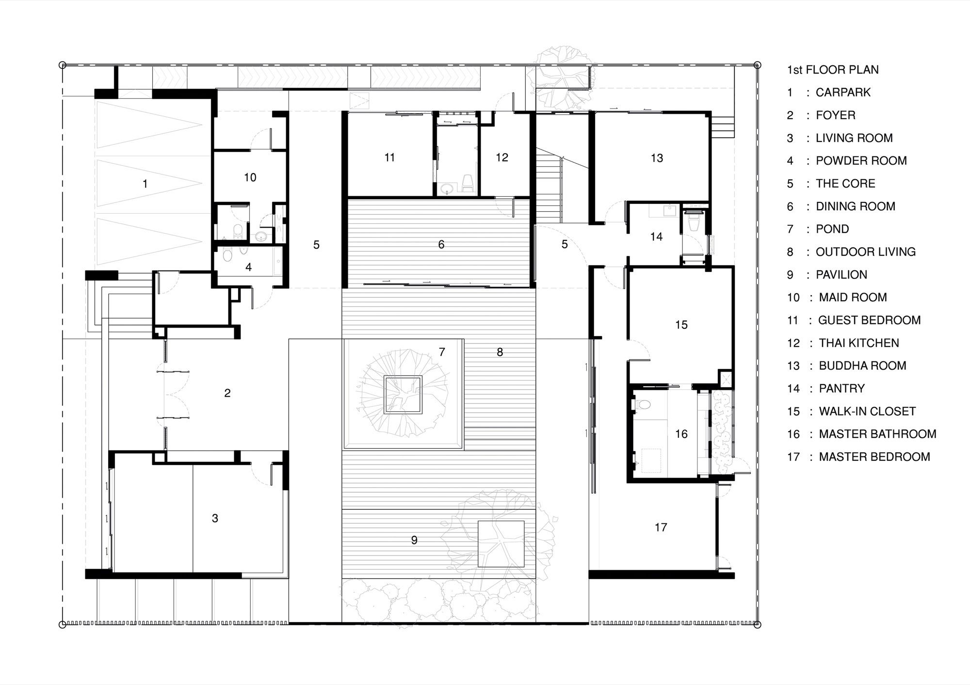 Gallery Of Wind House Openspace Design 29 Drawing House Plans Floor Plans Home Building Design