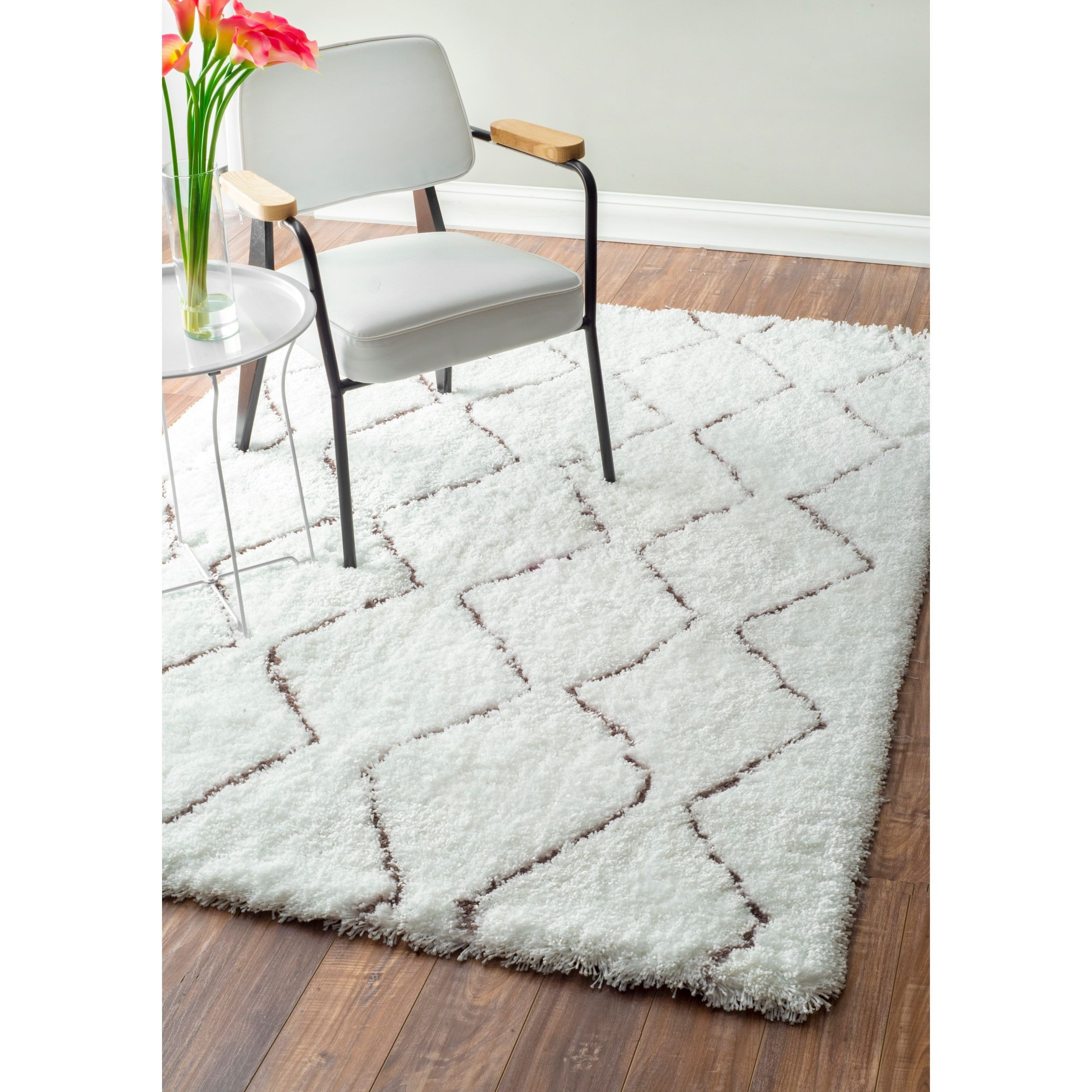 Nuloom Handmade Moroccan Trellis Rug 8 X10 Natural Beige Off White Size X 10 Synthetic Fiber Geometric