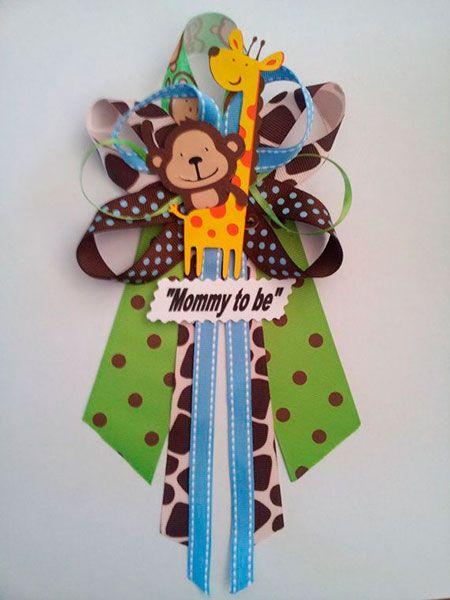 Broche Para Baby Shower Con Animalitos Jirafa De Baby Shower