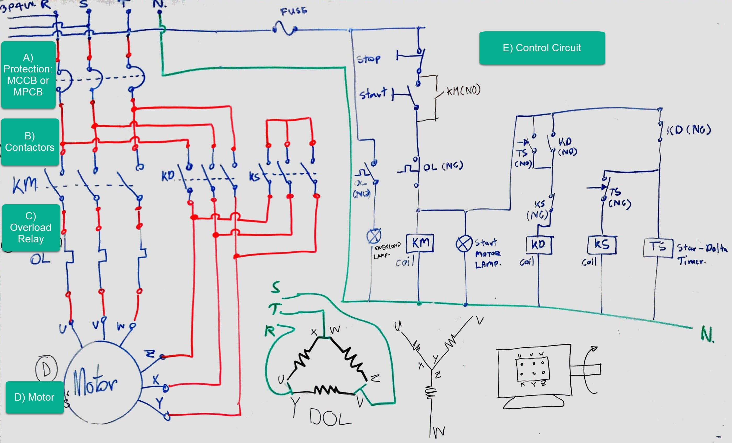 Contactor Wiring Diagram With Timer Diagram Diagramtemplate Diagramsample Electrical Circuit Diagram Diagram Circuit Diagram