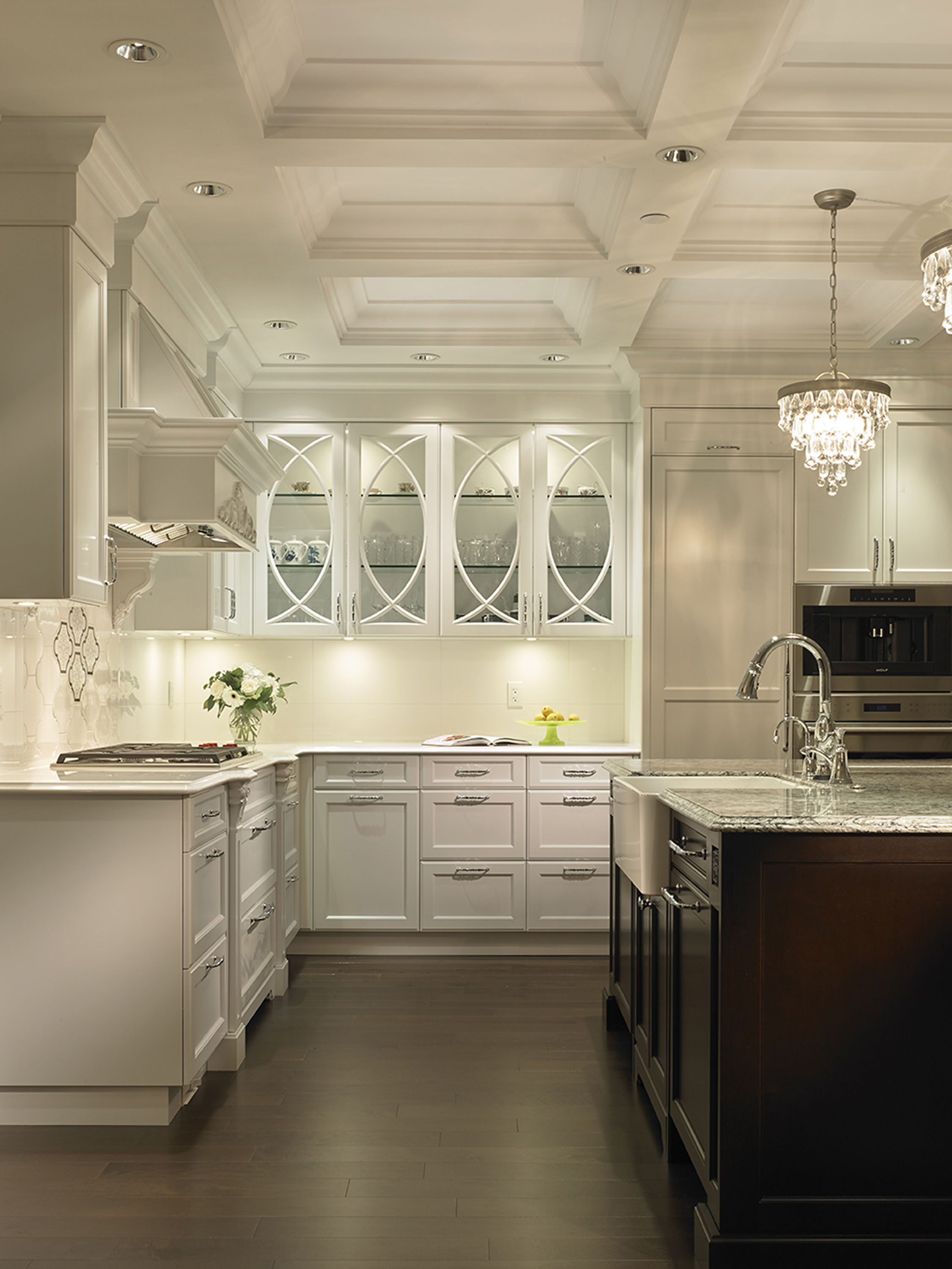 The Details In This Surrey Bc Kitchen Crown Moulding Coffered