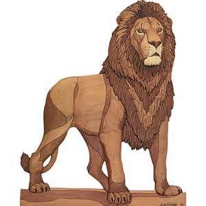 162 Lion - Intarsia - Judy Gale Roberts Intarsia Studio