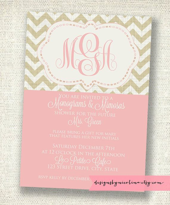 Monograms and Mimosas Chevron Shower... This shower idea ...