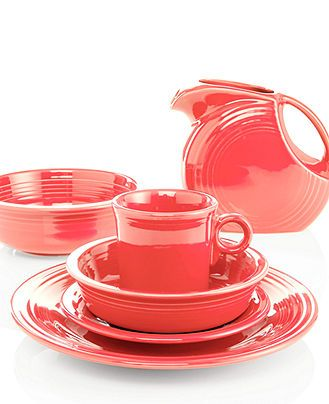 Fiesta Flamingo Collection - Retired & Reviews - Dinnerware - Dining - Macy's