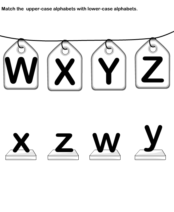Match Letters, Match Alphabets, Upper Case and Lower Case