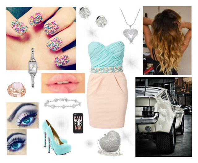 """""""CottonCandy"""" by briyamalone ❤ liked on Polyvore featuring beauty, Nail Rock, TaylorSays, Elise Ryan, Van Cleef & Arpels, Posh Girl, GUESS and Allurez"""