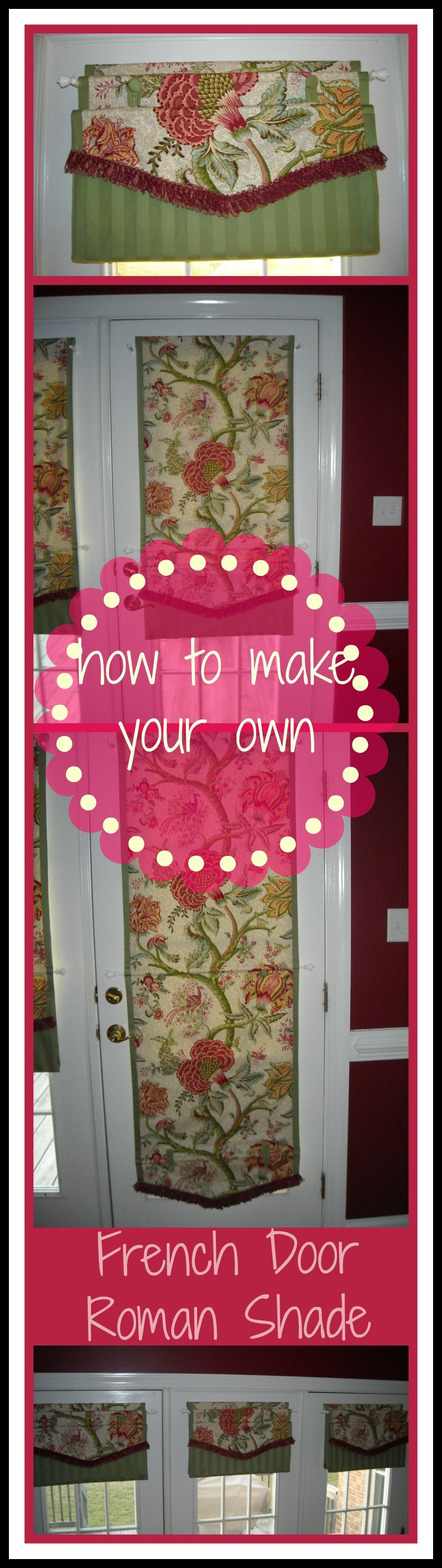 Diy Roman Shade For French Doors No Hardware Required These Babies Button Up Ditch The Cords And Hardwa French Doors French Door Coverings Diy Shades