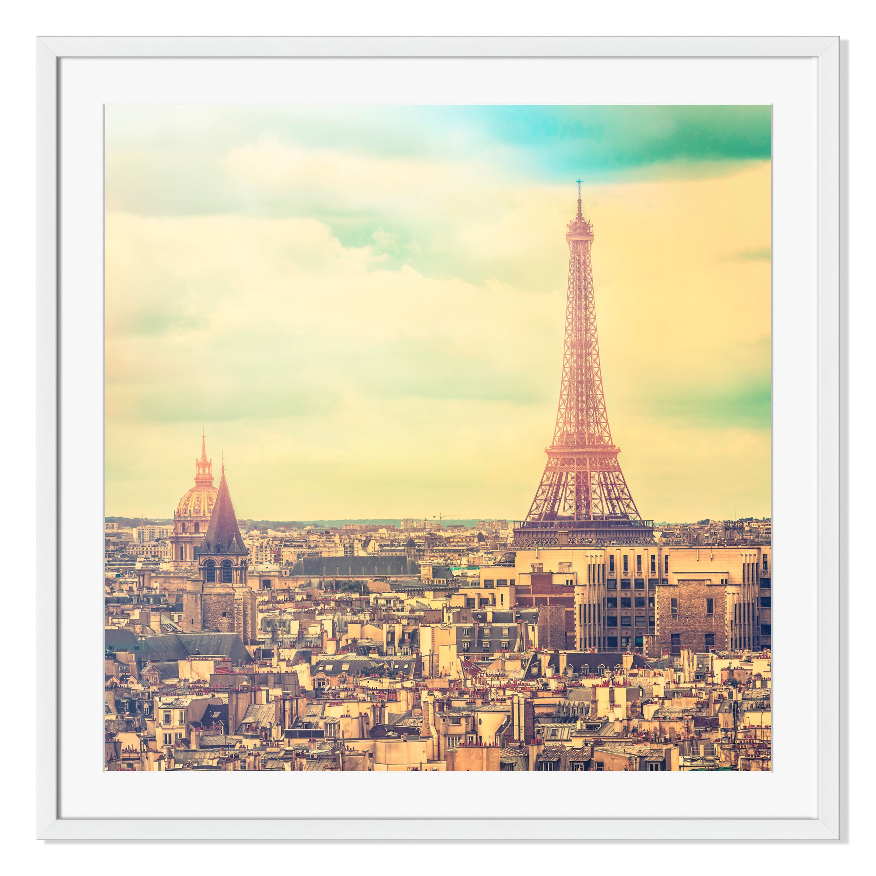 Gallery Direct Eiffel Tower in Late Afternoon Paris Print on Frame ...