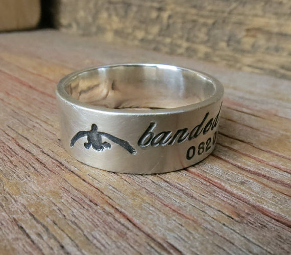 Ring Sterling Silver Duck Band Wedding