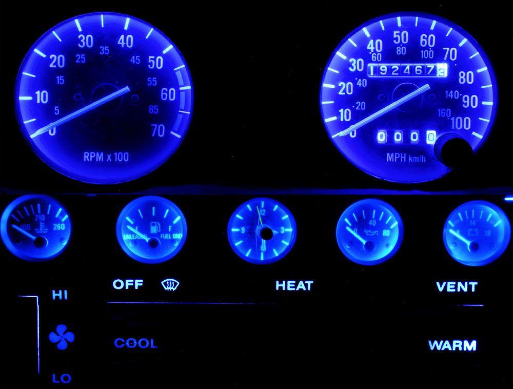 Blue Led Speedometer Gauge Cluster Dash Interior Led Kit For Jeep