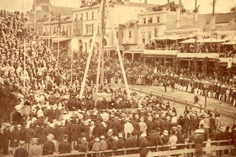 1867 laying foundation stone Melbourne Town Hall