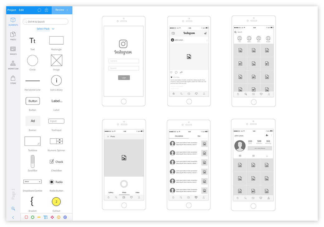 Wireframe Prototyping Tools Wireframe Web Design Tools