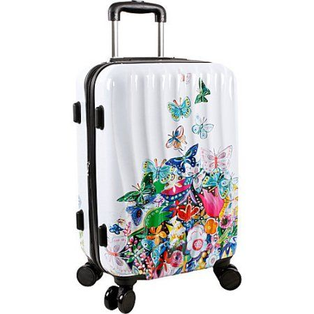 Suitcases for Teen Girls | World New York Art Butterfly Carry-on ...