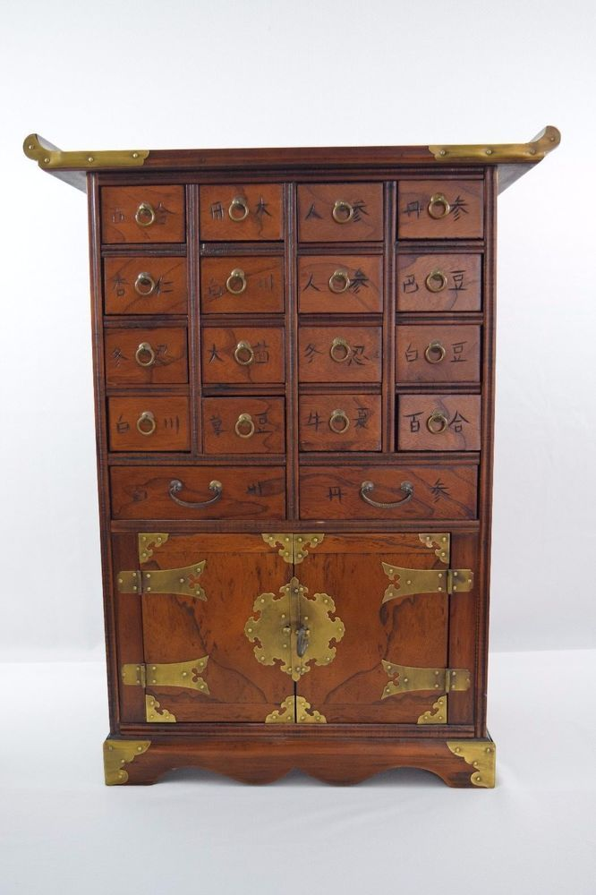 Beautiful Chinese Multi Drawer Apothecary Medicine Cabinet Chest W Brass Lock Medicine Cabinet Chinese Furniture Chinese