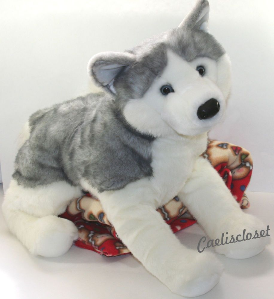 Douglas Barker Husky 30 Large Plush Dog Stuffed Animal Siberian