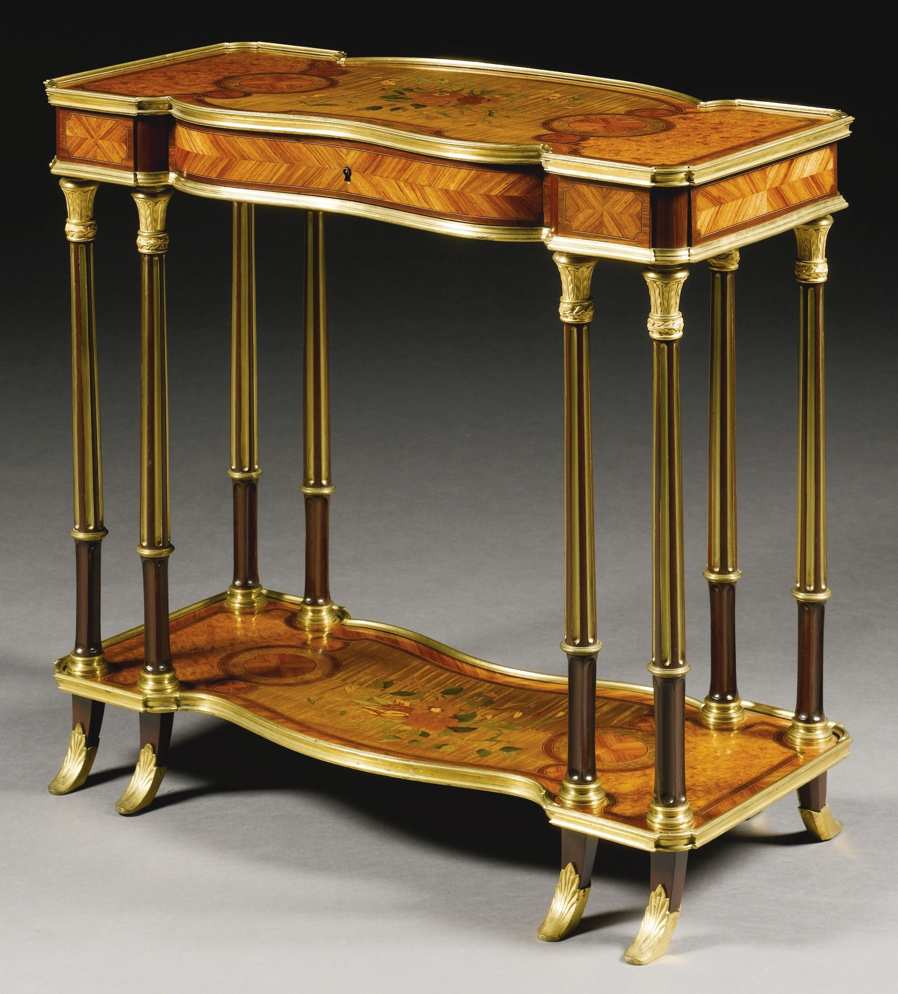 a louis xvi style gilt bronze mounted kingwood burrwood sycomore and stained m bel. Black Bedroom Furniture Sets. Home Design Ideas