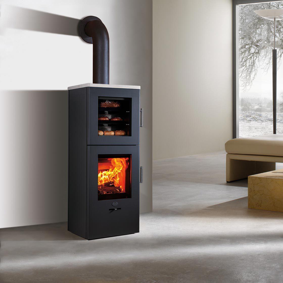 Kaminbauer Nürnberg estufa de leña moderna de acero con horno nürnberg bf max