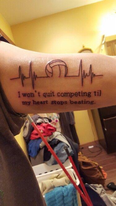 Kaitlyns Volleyball tattoo!