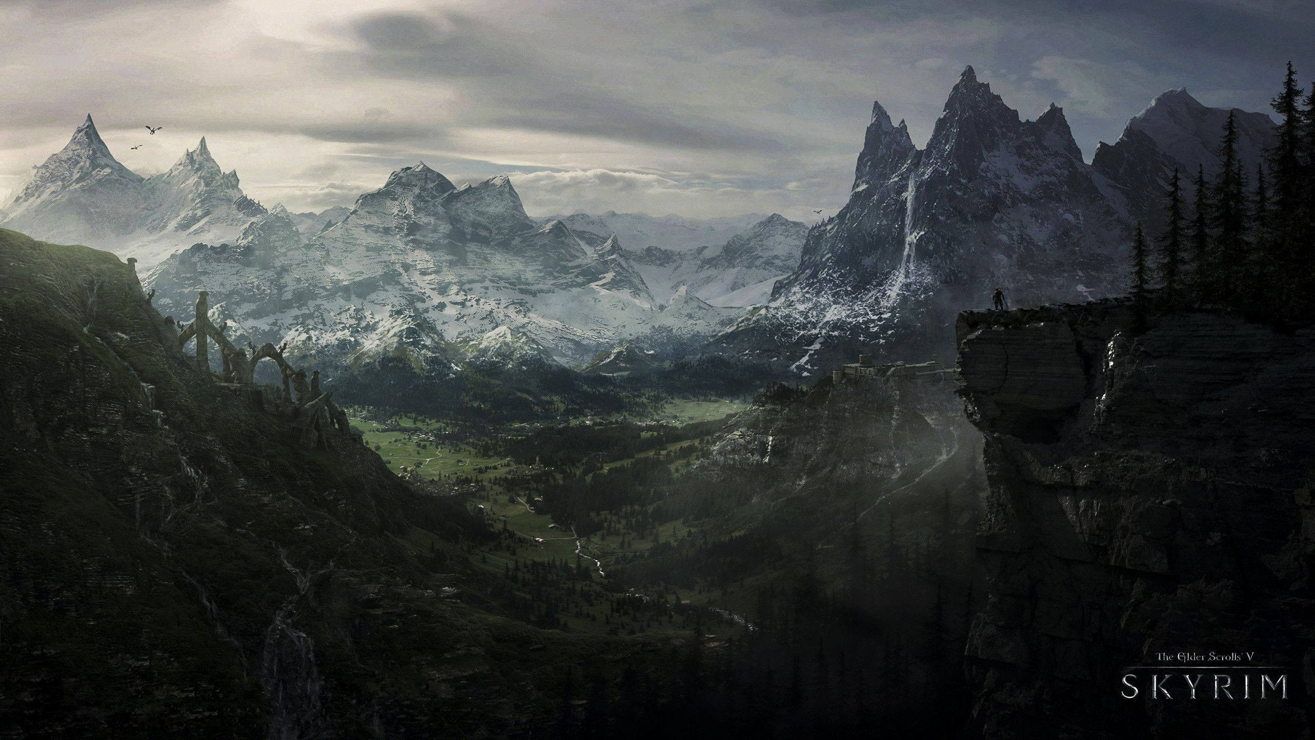 2560x1440 Hd Wallpaper Background Id 606641 Skyrim Wallpaper Skyrim Art Skyrim