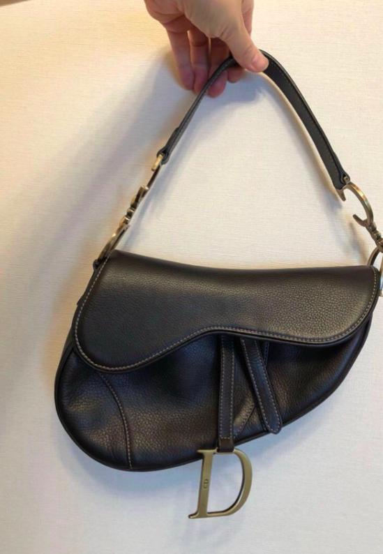 22aa1e3c5a2a Authentic Vintage Christian Dior Saddle Bag Black Leather Седельные Вьюки,  Винтаж Диор, Седла,