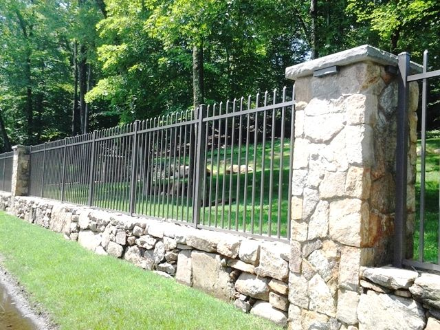 Wrought Iron Fencing Iron Fence Wrought Iron Fences Rock Wall