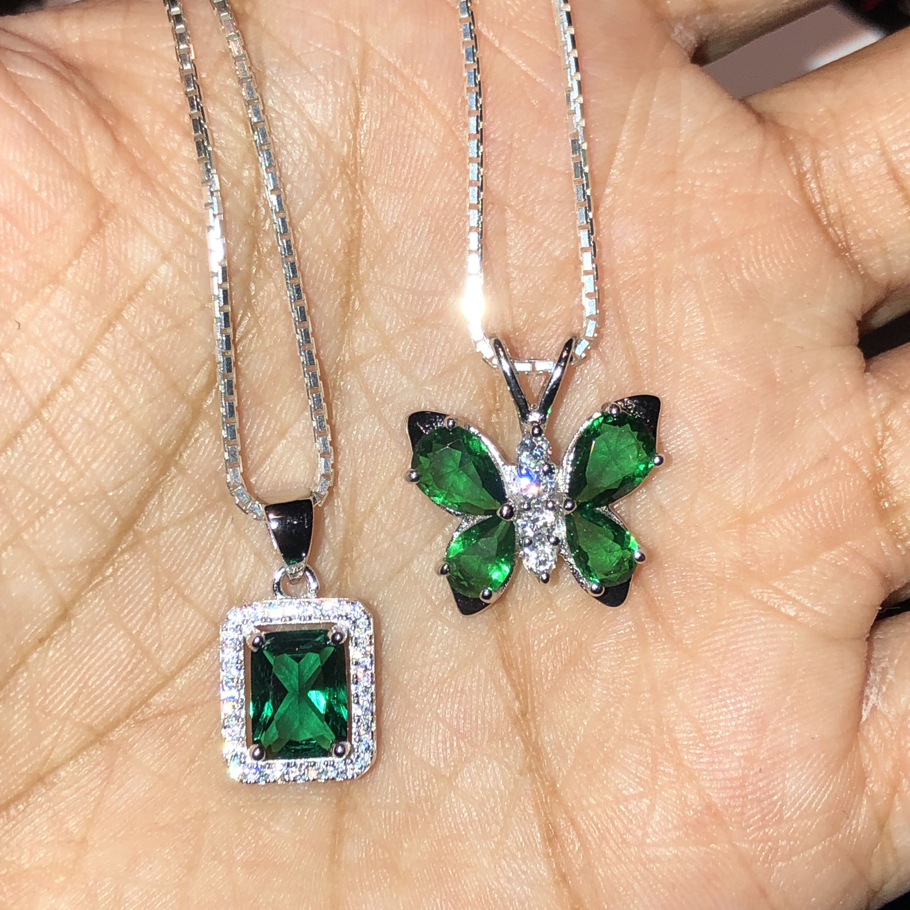 Bria Diamontrigue Jewelry: +BRIA EMERALD & +CRYSTAL BUTTERFLY EMERALD