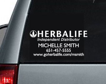 Herbalife Personalized Car Decal Herbalife By SageCreekOriginals - Advocare car decal stickers