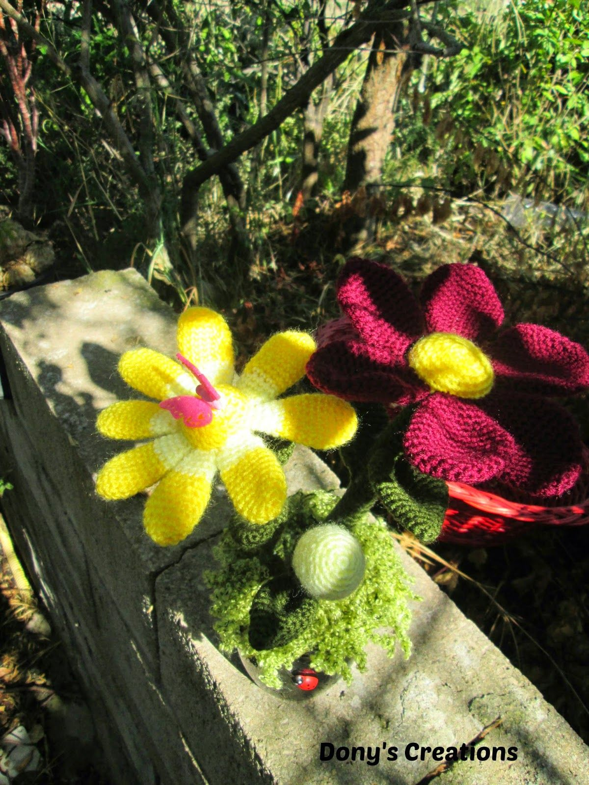http://donyscreations.blogspot.it Margherite amigurumi