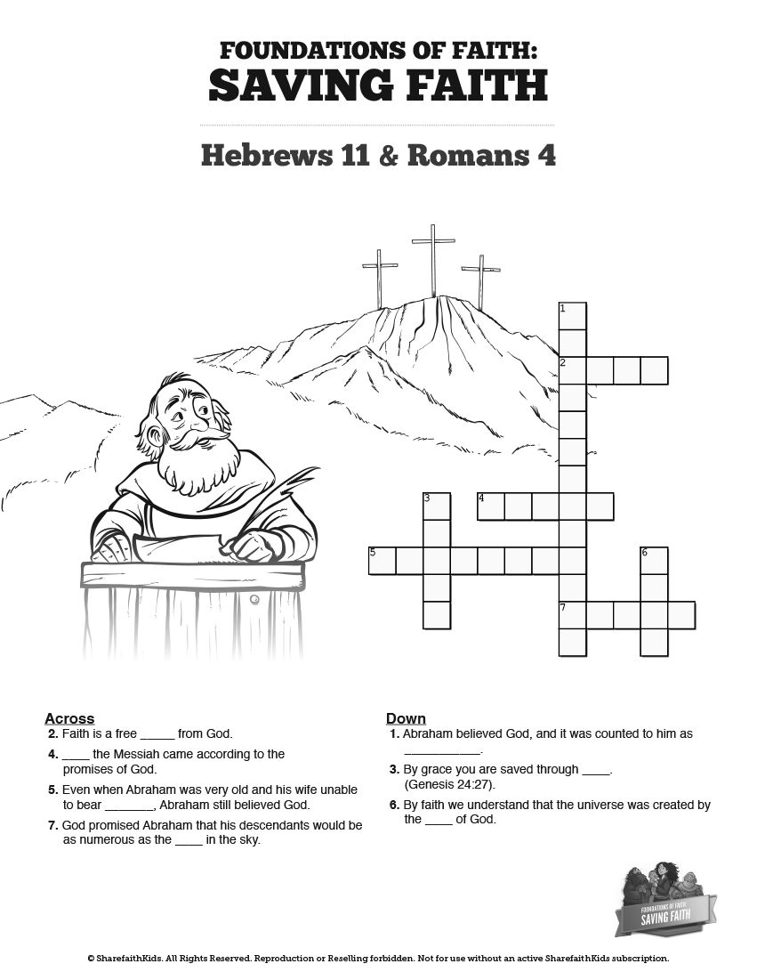 Printable Bible Crossword Puzzles | Creator Clues - Bible ...