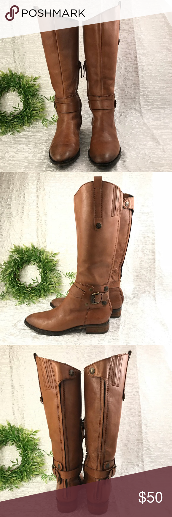 """7cbb735e5cbdf SAM EDELMAN talk brown leather women boots 6.5 Excellent used condition  Calf 7"""" Heel 1.12"""" Height 15"""" (heel to top of the boot) Sam Edelman Shoes  Winter ..."""