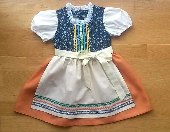 Baby Girl Dirndl pdf sewing pattern. 3-24 months. Folk dress ...