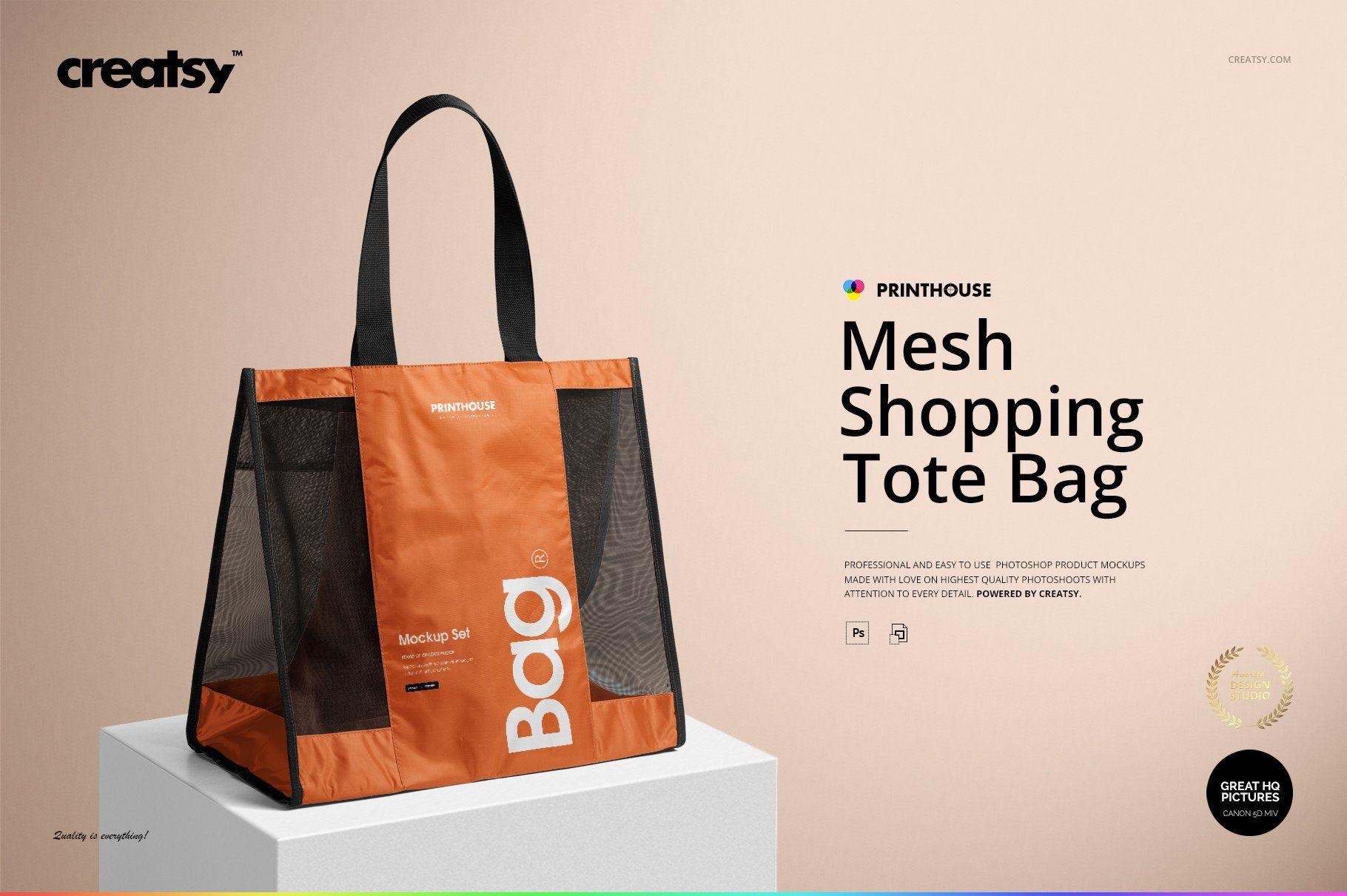Download Mesh Shopping Tote Bag Mockup Set Shopping Tote Bag Tote Bag Shopping Tote