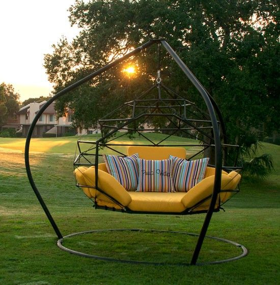 the pod by kodama zome outdoor swing bed    lounge