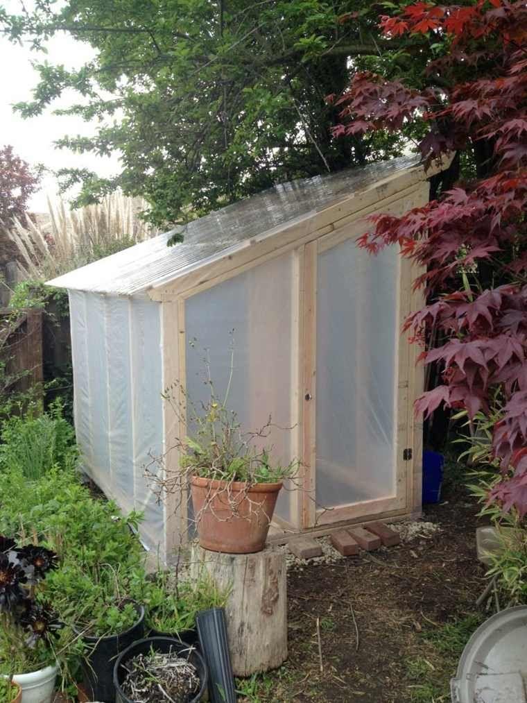 serre jardin diy bois idée plastique | jardin | Jardins ...