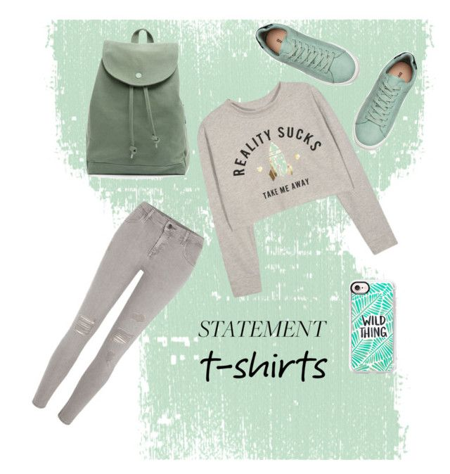 """""""minty mint"""" by dreamklozet ❤ liked on Polyvore featuring River Island, BAGGU and Casetify"""