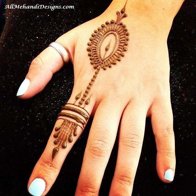 Front Easy Finger Mehndi Simple Mehndi Designs